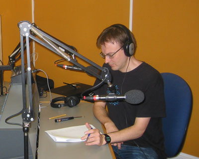 Phil England in ResonanceFM studio